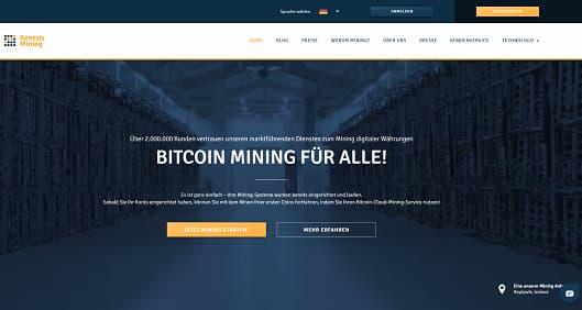 Screenshot Genesis Mining